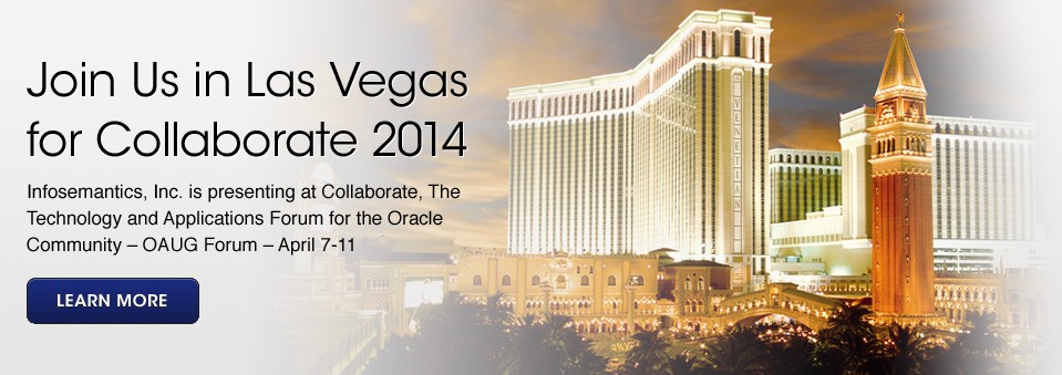 Join us in Las Vegas for Collaborate 2014
