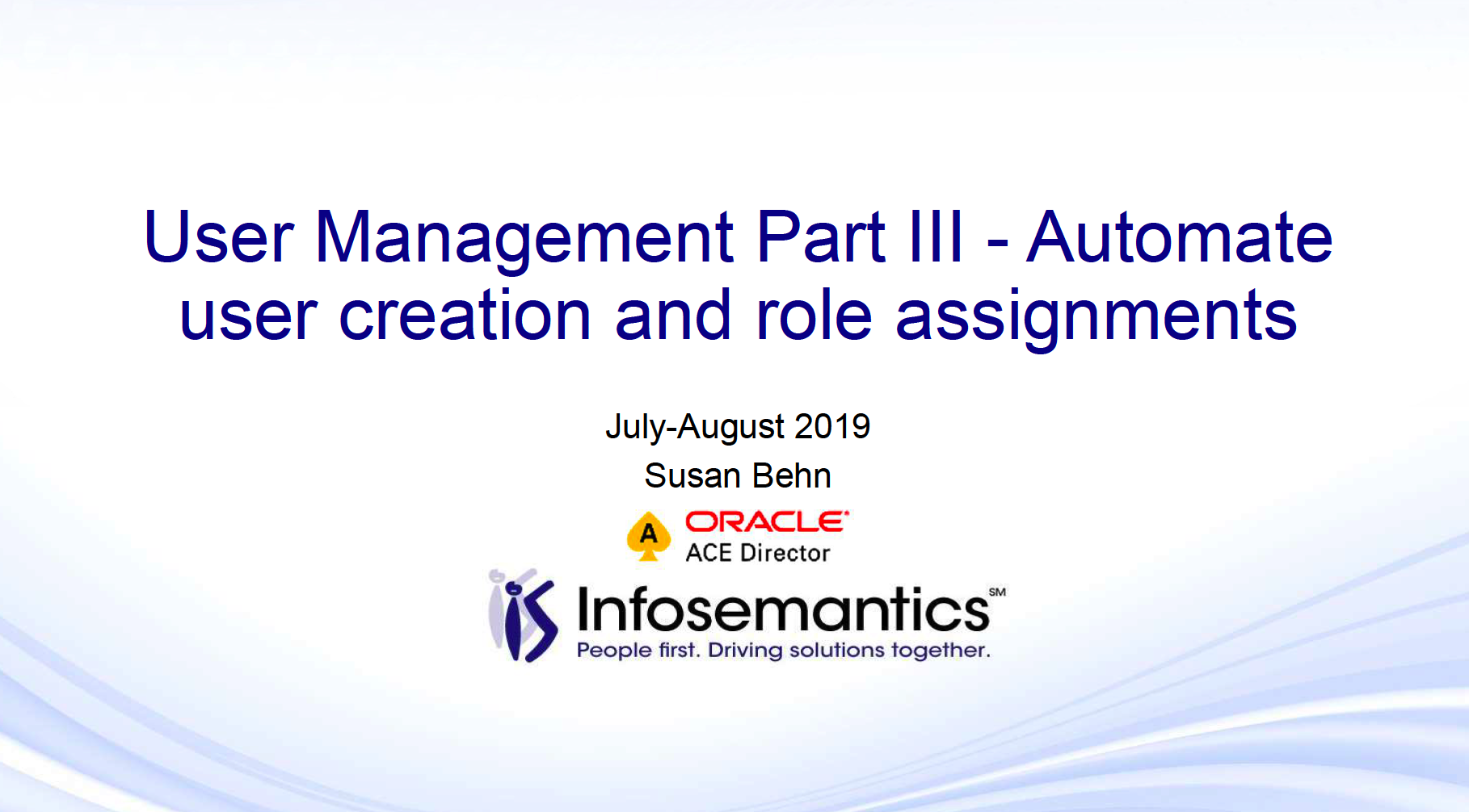 User Management Part III - Automate user creation and role
